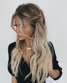 Trendy Braided Hairstyles For Long Hair Looks Fantastic Hairstyles . Braids For Long Hair, Curled Hair With Braid, Curled Hair Prom, Long Ponytails, Hair Down Braid, Braids And Curls, Blonde Braids, Side Braids, Dutch Braids