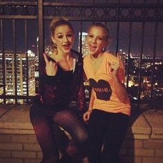 Me and Kasey after dance!!! (My regular face claim and just me at dance is Maddie Ziegler, my dance friends face claim are Paige and Chloe or Maddie, Paige, and Chloe!!