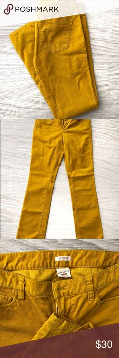J Crew Corduroy  Mustard Skinny pants Matchstick skinny pants. Size 28R. From J Crew. Smoke free home. J. Crew Pants Skinny