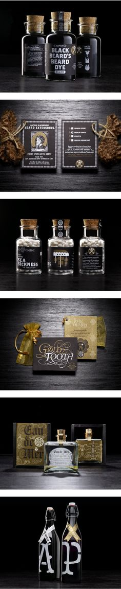 Great pirate themed packaging Food Packaging Design, Bottle Packaging, Soap Packaging, Beauty Packaging, Packaging Design Inspiration, Brand Packaging, Branding Design, Product Packaging, Label Design