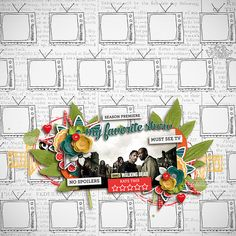 Layout using {Must See TV} Digital Scrapbook Collab with Meghan Mullens & Studio Basic available at Sweet Shoppe Designs http://www.sweetshoppedesigns.com//sweetshoppe/product.php?productid=32037&cat=775&page=3 #wilddandeliondesigns #meghanmullens