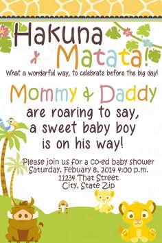Lion King Baby Shower Invitation www.facebook.com/rockinrompers www.etsy.com/shop/rockinrompers