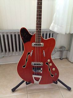 Super Rare Vintage Framus Tv Star Bass 5/151 60's Bass Guitar