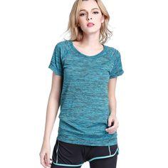 Mujeres de la Aptitud Profesional Running Yoga camiseta de manga Corta Camisa de Secado rápido Camisetas Ejercicios Jogging Mujer Tops