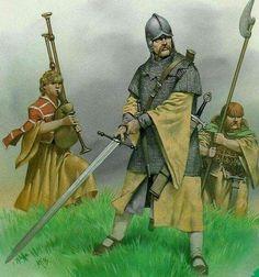 Irish Gallowglass and Kerns, 16th Century