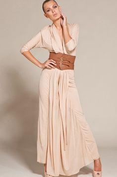 kari muslih | Lovely wide belt. The gown would maybe look better in a different ...