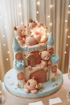 Cake Wrecks - Home - Sunday Sweets: Cute Baby Cakes - # Check more at . - Cake Wrecks – Home – Sunday Sweets: Cute Baby Cakes – # Check more at carry. Baby Birthday Cakes, Beautiful Birthday Cakes, 1st Boy Birthday, Special Birthday, Teddy Bear Birthday Cake, Brithday Cake, Birthday Cookies, Cake Wrecks, Baby Shower Cakes