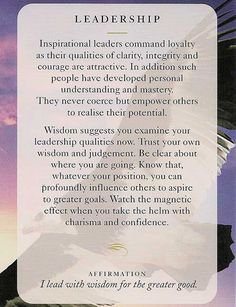 """Leadership"" Wisdom Card – Diana Cooper"