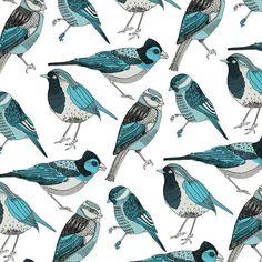 pale green birds Art Print