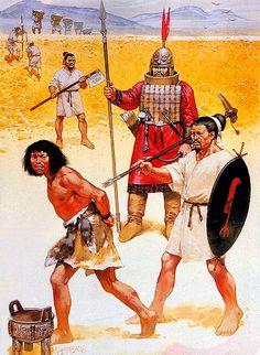 """Ancient chinese - Shang warriors, 1500 Bc-1000 BC""""   • Yi barbarian  • Axeman  • Shang nobleman  • Infantryman"""