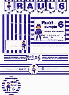 Kit imprimible playmobil policia