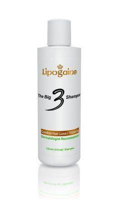 Shampoos For Hair Loss   Lipogaine Big 3 Premium Hair Loss Shampoo Review