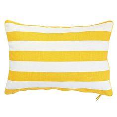 Rally Rectangle Cushion - Yellow