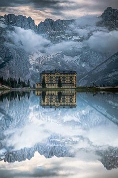 The Grand Hotel, Lake Misurina, Italy | Luxury Hotels | Best European Hotels | Well Living Hotels | For more inspirational ideas take a look at: www.bocadolobo.com