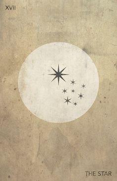 Modern Tarot Card Art   The Star   Deck Available on Etsy   Major Arcana   Oracle Cards   Divination