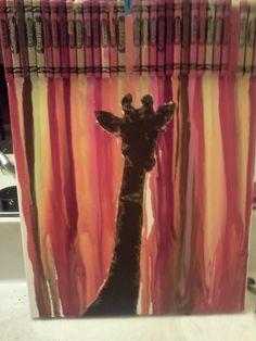 giraffe crayon art