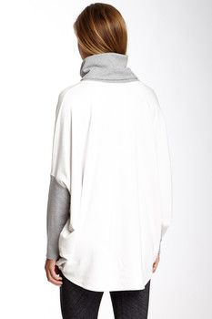 Te Verde Te Verde Micro French Terry Funnel Neck Pullover