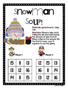 Snowman Soup - subtraction game