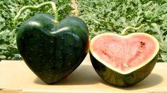 watermeloen in de vorm van een hartje thuisbezorgd.nl