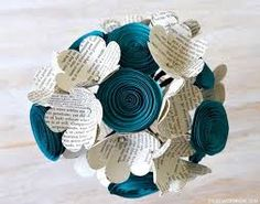 Image result for paper flower wedding bouquet