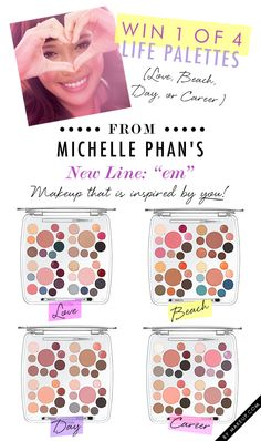 em michelle phan giveaway // this line is incredible! Just bought the day life one My Beauty, Beauty Makeup, Beauty Hacks, Hair Beauty, Beauty Essentials, Michelle Phan, Kiss Makeup, Hair Makeup, Best Makeup Products