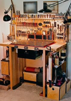 leather working table #woodworkingbench