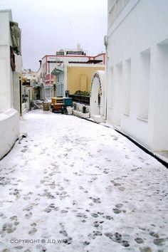 Santorini - La calle famosa de Oro en Fira.  Invierno de 2008 © Web JLD