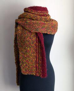 Hand Knit Shoulder Shawl Scarf Cowl Wrap Stylish by PeacefulPath