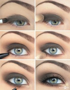 Smokey Eye in Brown... prom make up
