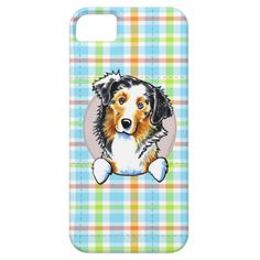 Australian Shepherd Pretty Plaid iPhone 5 Cases   Click on photo to purchase. Check out all current coupon offers and save! http://www.zazzle.com/coupons?rf=238785193994622463&tc=pin