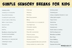 Sensory Break Ideas for Kids - This is GREAT for all kids.