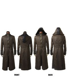 military rock gothic trench coats with standing collar