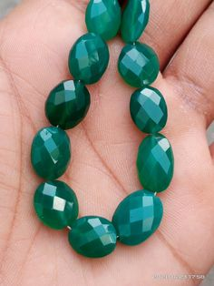 Semi Precious Beads, Green Onyx, Natural Gemstones, Product Description, Beaded Bracelets, Shapes, Etsy, Jewelry, Jewlery