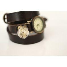 MadamLili - skórzany zegarek dmuchawiec