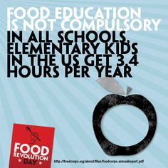 Join Food Revolution Day, stand up for real food & help bring back food education for all! http://foodrevolutionday.com
