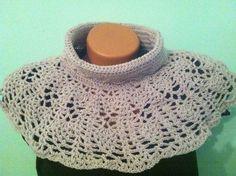 Crochet scarf Crochet collar Collar Neckwarmer Pineapple motif