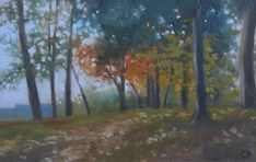 Buy Autumn Trees Landscape Oil Painting, Oil painting by Veronique Oodian on Artfinder. Discover thousands of other original paintings, prints, sculptures and photography from independent artists.