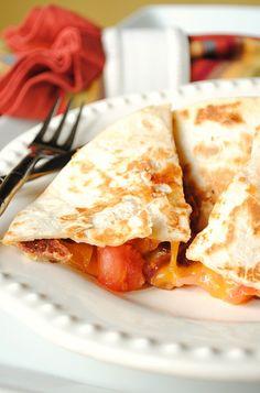 Bacon, Cheese and Tomato Quesadillas