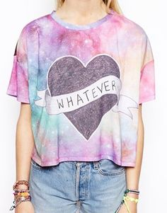 Image 3 of ASOS Crop T-Shirt with Whatever Space Dye
