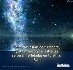 Frase de Rumi - Calma las aguas de tu mente
