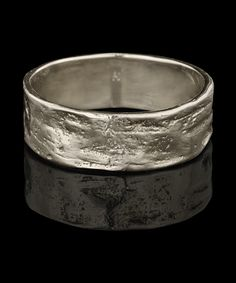 Men's Jewelry - 18k non-plated natural white gold Everpresent ring by Karen Karch