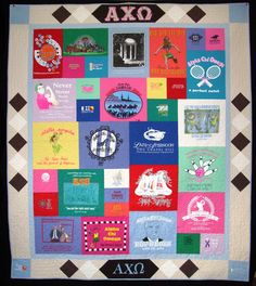 Sorority Tshirt Quilt.