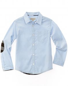 Burberry Boys' Light Blue Corduroy Woven Shirt is on Rue. Shop it now.