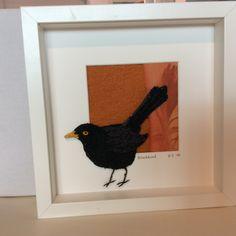 Blackbird. Hand embroidered . www.violetshirran.com