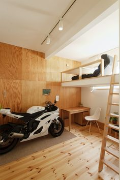 Karuizawa, Garage Ideas, Man Cave, Exterior, Bike, Space, Architecture, Furniture, Wine Cellars