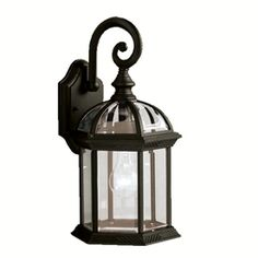 Portfolio�Barrie 15.5-in H Black Outdoor Wall Light   I THINK THIS IS THE ONE I…