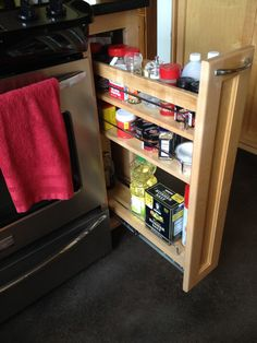 Spice rack - Hmm...maybe could build some simple rack, tall and ...