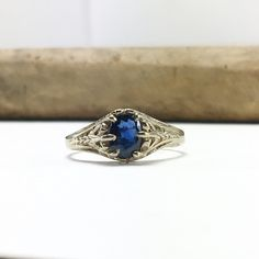 A personal favorite from my Etsy shop https://www.etsy.com/listing/288347567/14k-white-gold-filigree-sapphire-ring