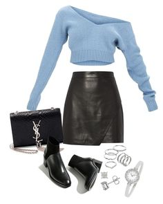 """Sem título #1403"" by manoella-f on Polyvore featuring moda, Michelle Mason, Yves Saint Laurent, Apt. 9 e Bulgari"