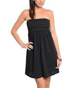 Look what I found on #zulily! Black Strapless Dress #zulilyfinds